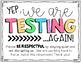 Testing Signs FREEBIE