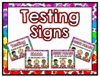 Testing Signs - Multicultural 4 Pack