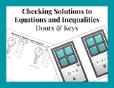 Testing Solutions to One-Step Equations and Inequalities