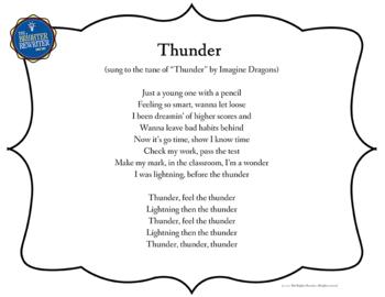 Testing Song Lyrics for Thunder