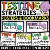 Testing Strategies: Relax & Cubes Poster Set & Bookmarks for Students