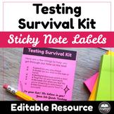 Testing Survival Kit Editable Labels