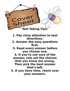 Testing Taking Cover Sheet