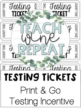 photo relating to Tickets Printable identified as Tests Tickets- Printable Screening Incentive