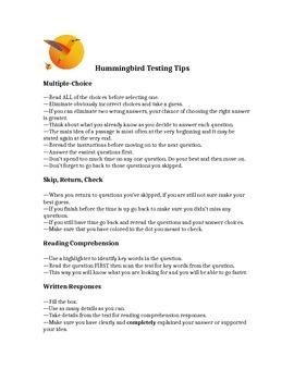 Testing Tips Handout