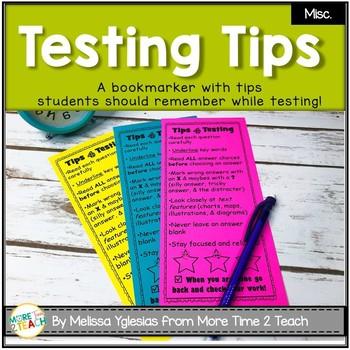 Testing Tips Bookmarker {FREEBIE}