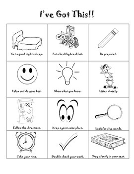 Testing Tips Handout/Coloring Page