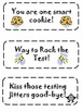 Testing Treat Cards - Aspire, ARMT, and other standardized tests