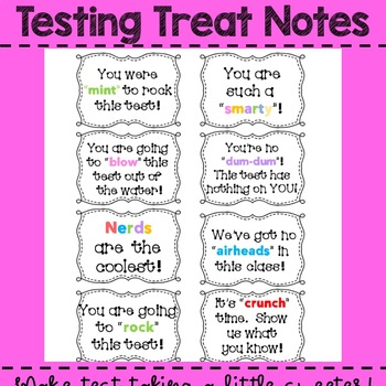 Testing Treat Notes