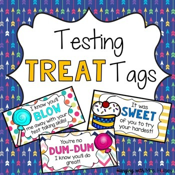 Testing Treat Tags & Toppers (Motivational) by Hanging ...