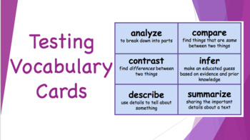 Testing Vocabulary Cards