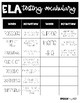 Testing Vocabulary Reference Sheets