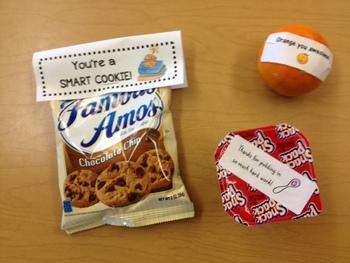Testing day treats- Orange you awesome!