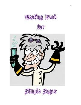 Testing food for simple sugar
