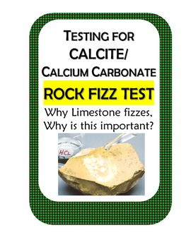 Testing for Calcium Carbonate Calcite using HCL, limestone and common materials