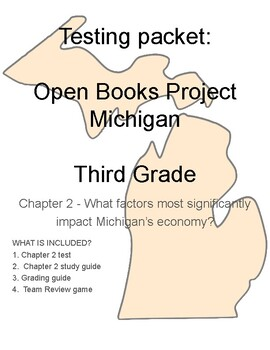 Testing packet: Open Books Michigan for 3rd Grade  Chapter 2