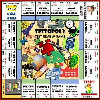 Testopoly Test Review Game