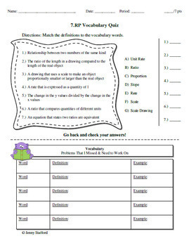 7th Grade Math Tests CCSS (7 NS, 7 RP, 7 EE, 7 G, 7 SP) EDITABLE
