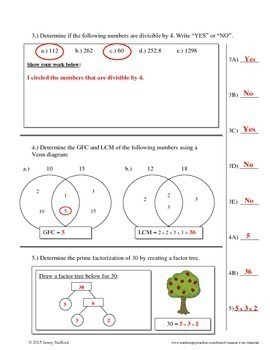 6th Grade Math Tests (Entire Year EDITABLE Assessments Aligned to Common Core)