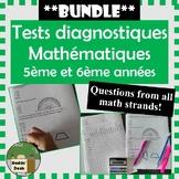 **BUNDLE** Tests diagnostiques de mathématiques pour 5ème et 6ème années (Math)