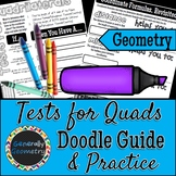 Tests for Quadrilaterals on Coordinate Plane Doodle Guide & Practice Worksheet
