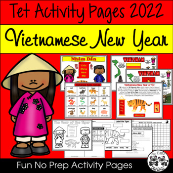 Tet Zodiac Fun Pages for Vietnamese New Year