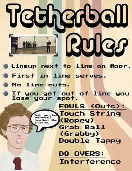 Tetherball Rules and Procedures Poster