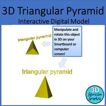 Triangular pyramid - 3D Shape for Whiteboards and Smartboards