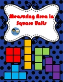 Finding Area Tetris Counting Square Units TEK 2.9F