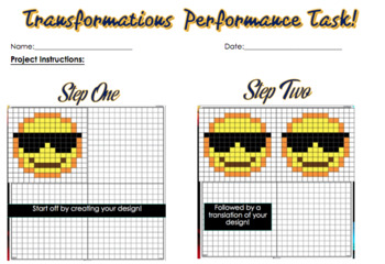 Tetris & Emoji Tranformations (Translations, Rotation, Reflection) Unit Bundle!