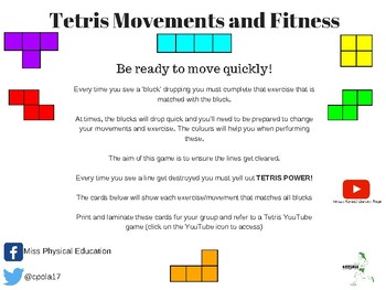 Tetris Movement and Fitness Gamification