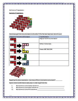 Tetris Tessellations Lesson Guided Notes with student tasks or Independent Work