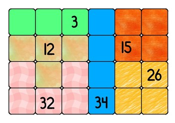 Tetris game. Counting and understanding numbers