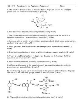 Tetrodotoxins - An Organic Chemistry Application Assignment