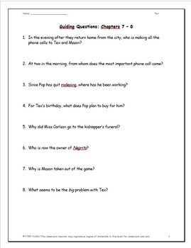 Tex: A Complete Novel Study