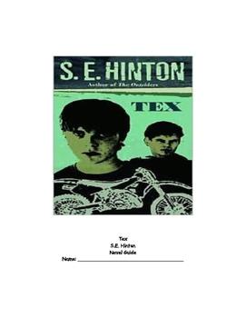 Tex by S.E. Hinton Novel Guide