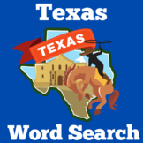 Texas Activity | Texas Word Search | Texas Symbols and Landmarks