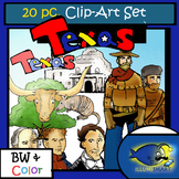 Texas 20 pc. Clip-Art  (BW and Color!)