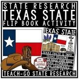 Texas History Research Flip Book- Texas Symbols, Landmarks & Texas Regions