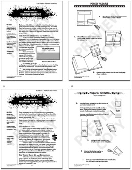 Mexican National Era – 7th Grade Texas History Interactive Notebook Unit