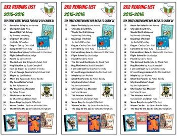 Texas 2x2 Reading List Bookmark 2015 *FREE*