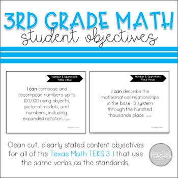 TEKS 3.1 Student Objectives
