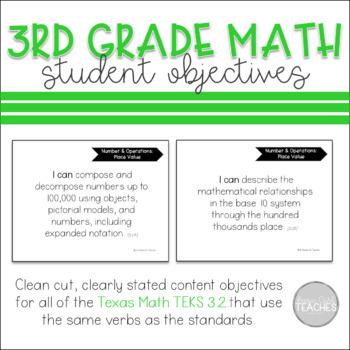TEKS 3.2 Student Objectives