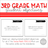 I Can Statement Posters Math Texas 3rd Grade TEKS 3.3