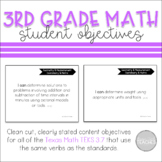 I Can Statement Posters Math Texas 3rd Grade TEKS 3.7