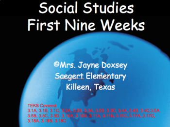 Texas 3rd Grade SS First Nine Weeks