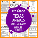 Texas Animals – NINE Vertebrates & Invertebrates Animal Adaptation Lessons