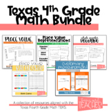4th Grade Math TEKS Aligned Activities Bundle