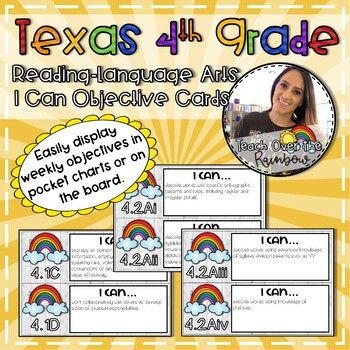 Texas 4th Grade Reading-Language Arts I Can Objective Cards