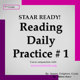 Texas 5th Grade READING STAAR Ready Daily Practice